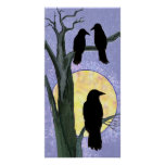 Ravens in a Tree at Sunrise Print