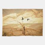 Ravens in Death Valley Towel