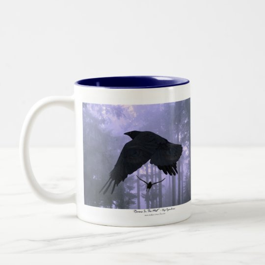 RAVENS IN THE MIST ~ Fantasy Art Mug