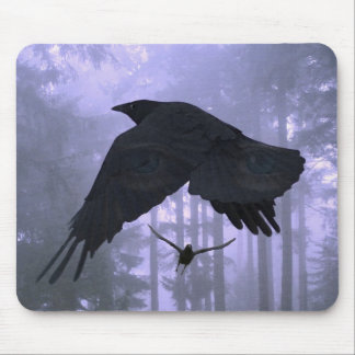 RAVENS IN THE MIST MOUSE MAT