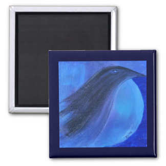 Raven's Moon 2 Inch Square Magnet