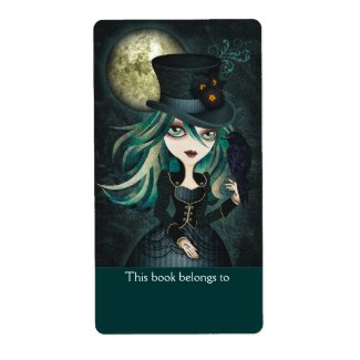 Raven's Moon Bookplates Labels label