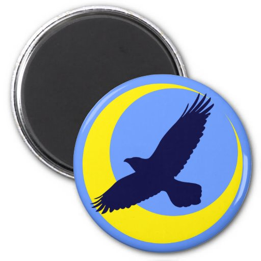 Ravens moon half-moon raven moon crescent fridge magnet