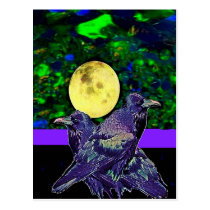 Raven's Moon Magic Gifts By Sharles Postcard