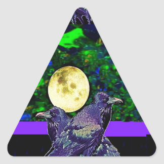 Raven's Moon Magic Gifts By Sharles Triangle Sticker