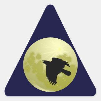 Ravens moon raven moon triangle sticker