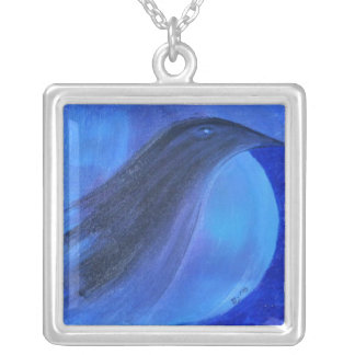Raven's Moon Silver Plated Necklace