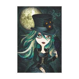 Raven's Moon Wrapped Canvas Wall Art