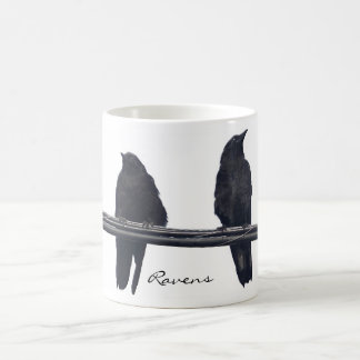 """RAVENS ON A WIRE"" Corvids Wildlife Mug"