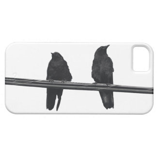 """RAVENS ON A WIRE"" Corvids Wildlife Phone Case"