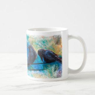 Ravens on a Wire Mug