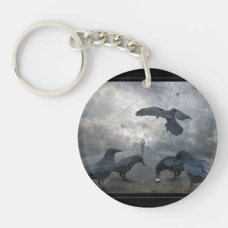 Ravens play with lost Time Keychain