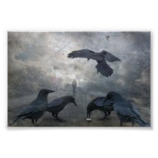 Ravens play with lost Time Print