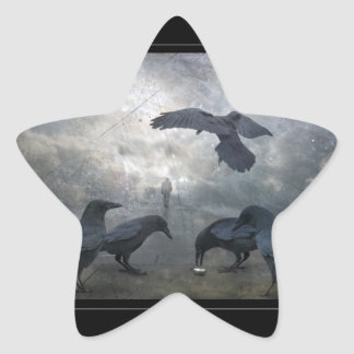 Ravens play with lost Time Star Sticker