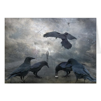 Ravens play with lost Time Stationery Note Card