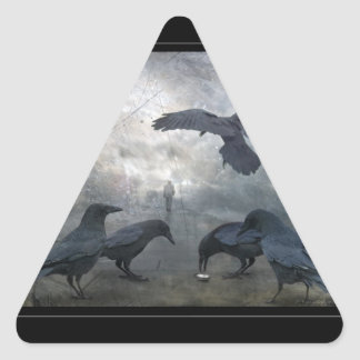Ravens play with lost Time Triangle Sticker