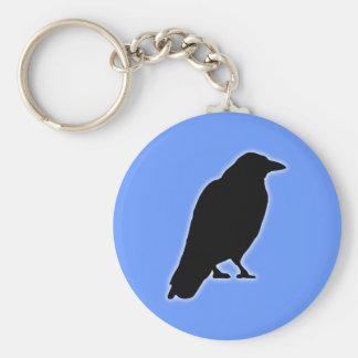 Ravens raven basic round button keychain