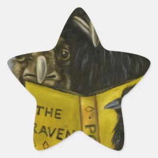 Ravens Read Star Sticker