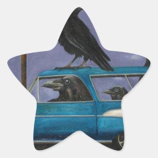 Ravens' Ride Star Sticker