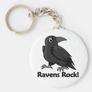Ravens Rock! Basic Round Button Keychain