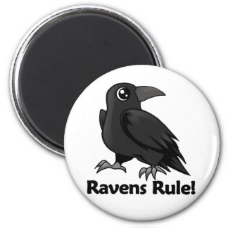 Ravens Rule! 2 Inch Round Magnet