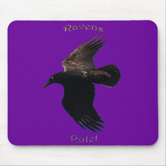RAVENS RULE Purple Mousepad