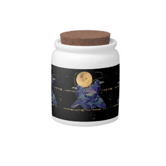 Ravens Spooky Moon by Sharles Candy Jars
