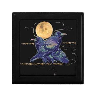Ravens Spooky Moon by Sharles Trinket Box