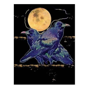 sharlesfineart Ravens Spooky Moon by Sharles Postcard