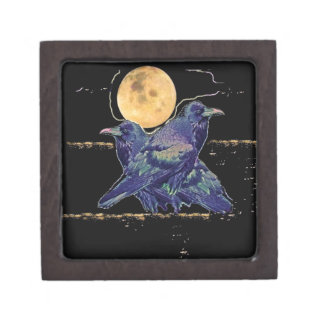 Ravens Spooky Moon by Sharles Premium Gift Boxes