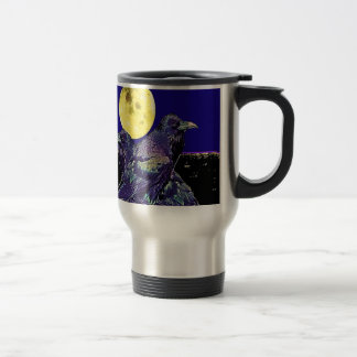 Ravens Spooky Moon @ by Sharles Travel Mug