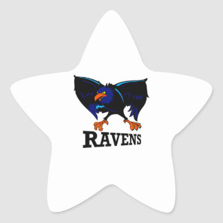 ravens star sticker