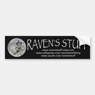 ravens stuff car bumper sticker