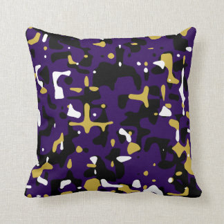 Ravens Team Colors Camouflage Pillow