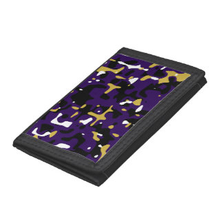 Ravens Team Colors Camouflage Tri-fold Wallet