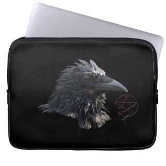 Ravens Wiccan Pentacle Gothic Laptop Sleeve