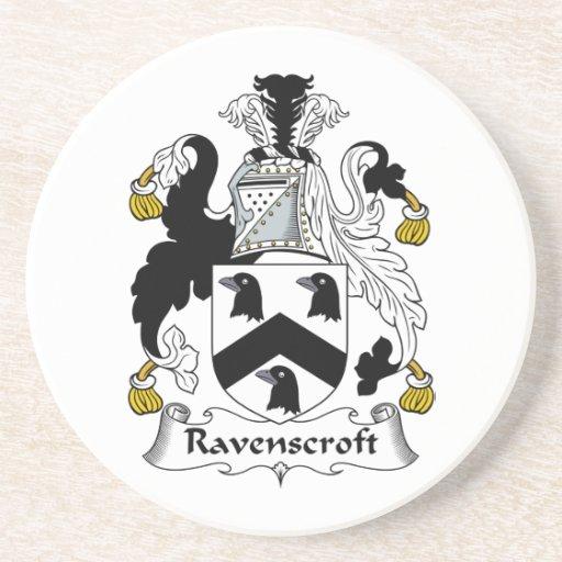 Ravenscroft Family Crest Drink Coasters