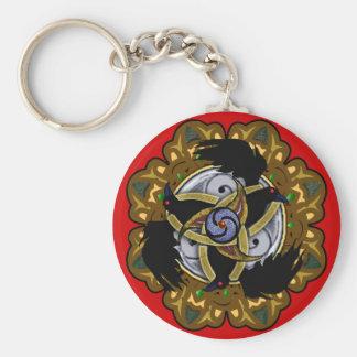ravenskelion basic round button keychain