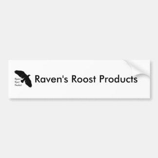 ravensroost, productos del gallinero del cuervo pegatina para auto