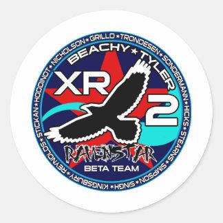Ravenstar mk1 Beta Team Round Stickers