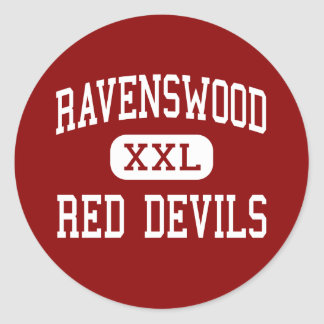 Ravenswood - Red Devils - High - Ravenswood Classic Round Sticker