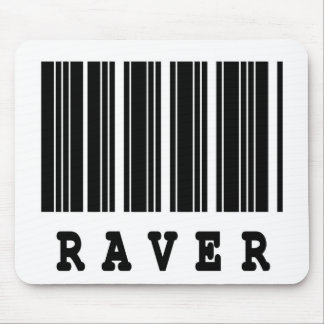 raver barcode design mouse pad