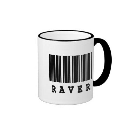 raver barcode design mug
