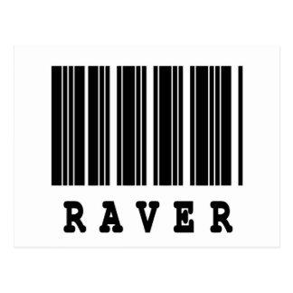raver barcode design postcard