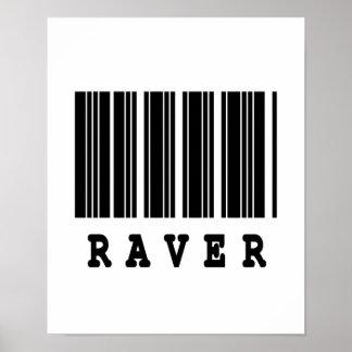 raver barcode design poster