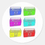 Raver del multicolor de BOOMBOX Pegatinas Redondas