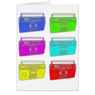 Raver del multicolor de BOOMBOX Tarjeta De Felicitación