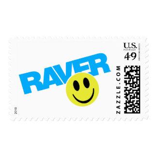 Raver - delirio del ir de discotecas de DJ de la Franqueo