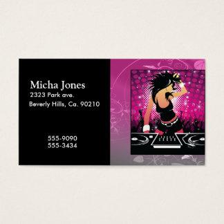 Raver Girl Dancing DJ Business Card