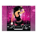 Raver Girl Dancing DJ Postcards